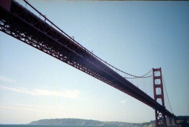 San Franciscos Golden Gate Br�cke vom Segelboot aus